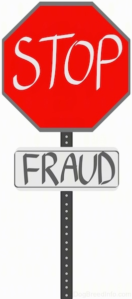 A drawn sign that read - STOP FRAUD.